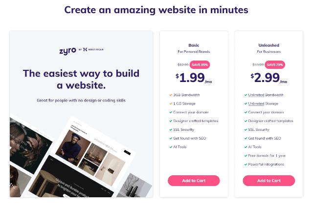 Hosting Website Builder