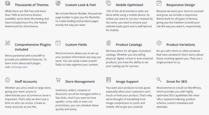 Liquid Web Managed WooCommerce Features