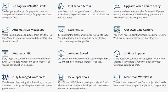 Liquid Web Managed WordPress Hosting Features
