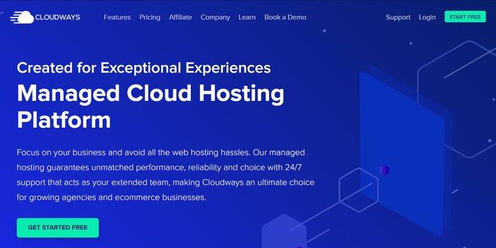 Cloudways Hosting Homepage