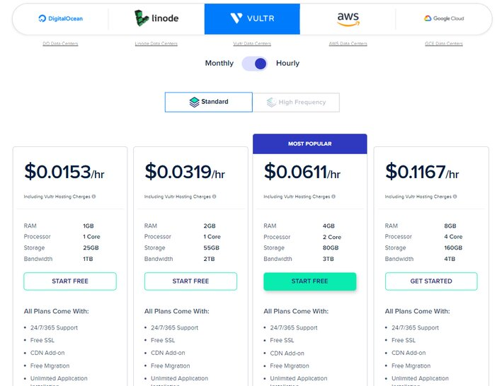 Cloudways Hosting Vultr Pricing Plan