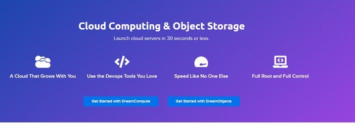 DreamHost Cloud Computing Storage