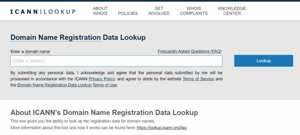 ICANN Lookup
