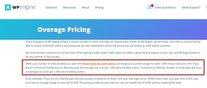 WP Engine Overage Charges