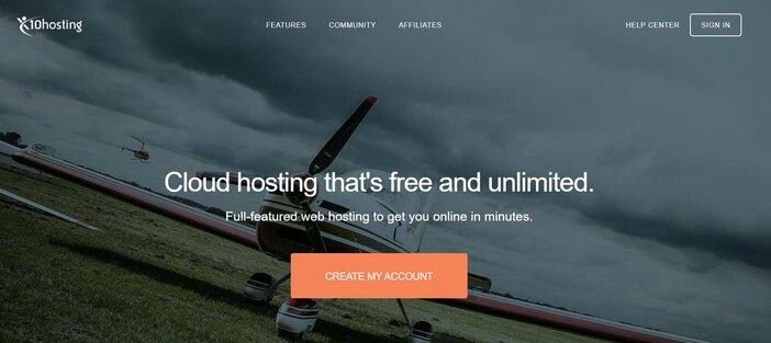 x10hosting homepage