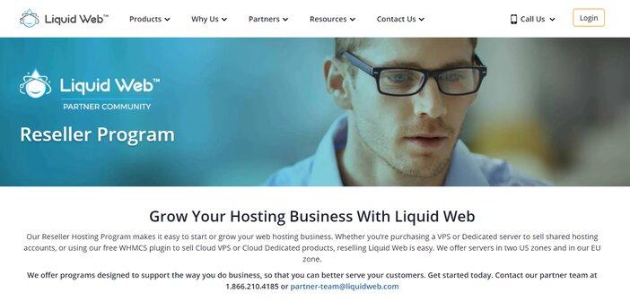 Liquid Web Reseller Hosting Homepage