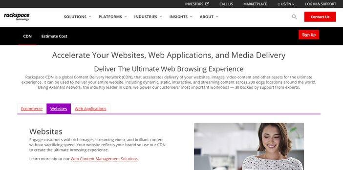 Rackspace CDN Page